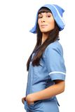 Nurse isolated on white background Royalty Free Stock Photo
