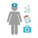 Nurse job. Design, vector illustration eps10 graphic Stock Images