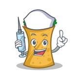 Nurse kebab wrap character cartoon. Vector art vector illustration
