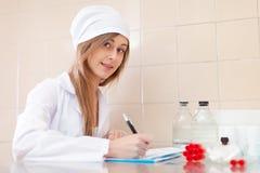 Nurse in the laboratory Stock Photo