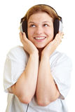Nurse listening to music Stock Photos