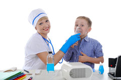 Nurse and the little patient. Royalty Free Stock Images