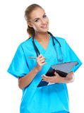 Nurse looking at the camera and smiling Stock Images
