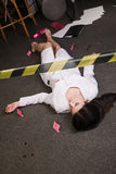 Nurse lying on the floor Royalty Free Stock Photography
