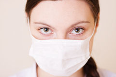 Nurse with mask Stock Image
