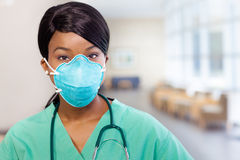 Nurse with mask Royalty Free Stock Photo