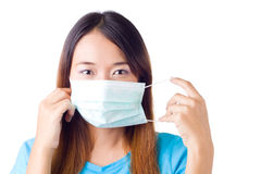 Nurse with mask Royalty Free Stock Photography