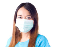 Nurse with mask Stock Photo