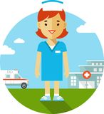 Nurse on medical background Royalty Free Stock Photography