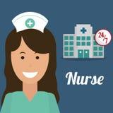 Nurse medical hospital service 24-7 Royalty Free Stock Photo