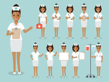 Nurse, medical and hospital staff characters. Royalty Free Stock Photography