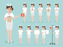 Nurse, medical and hospital staff characters. Royalty Free Stock Photo