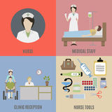 Nurse and medical staff Stock Photography