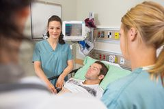 Nurse With Medical Team in Emergency Royalty Free Stock Image