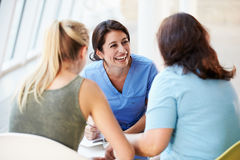 Nurse Meeting With Teenage Girl And Mother Royalty Free Stock Image