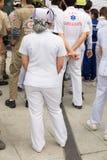 nurse in mock disaster drill Stock Photos