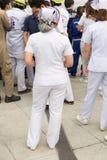 nurse in mock disaster drill Stock Photo