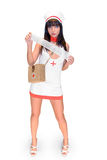 Nurse with mull Stock Image