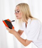 Nurse with notebook Royalty Free Stock Images
