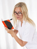 Nurse with notebook Stock Photography