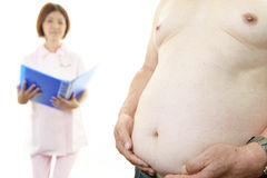 Nurse with obese patient Stock Photography