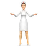 Nurse offers a choice of options Stock Images