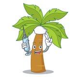 Nurse palm tree character cartoon Royalty Free Stock Photo