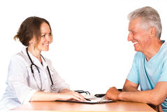 Nurse and patient Royalty Free Stock Photo
