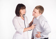 Nurse with patient Royalty Free Stock Photos