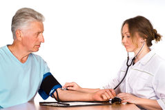 Nurse with patient Stock Photography