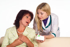 Nurse and patient Stock Photos