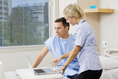 Nurse and patient Royalty Free Stock Image