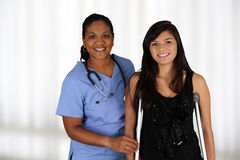 Nurse and Patient Stock Image