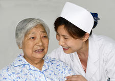 Nurse and patient Royalty Free Stock Photos
