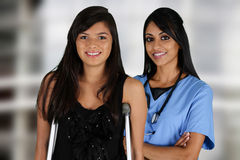 Nurse and Patient Stock Photography