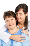 Nurse with patient smiling  Royalty Free Stock Photo