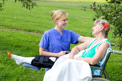 Nurse with patient Stock Photos