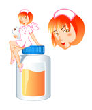 Nurse pill fairy Stock Photography