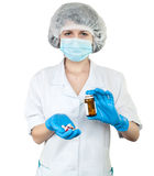 Nurse with pills Royalty Free Stock Photography
