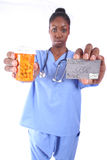 Nurse With Pills Stock Photo