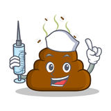 Nurse Poop emoticon character cartoon vector illustration