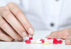 Nurse preparing medicines for patients Stock Photography