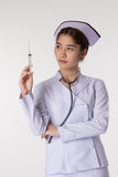 Nurse preparing a vaccination Stock Images