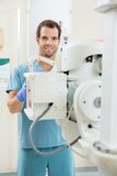 Nurse Preparing Xray Machine Stock Photos