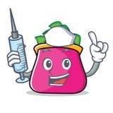 Nurse purse character cartoon style. Vector illustration Stock Images