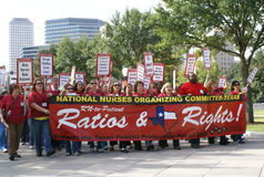 Nurse Rally at Texas Capitol Royalty Free Stock Photos