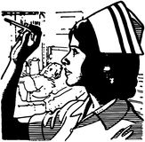 Nurse Reading Thermometer Stock Photography