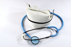 Nurse's Hat & Stethoscope Royalty Free Stock Photo