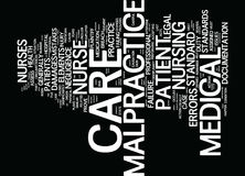The Nurse S Medical Malpractice Primer Text Background Word Cloud Concept Royalty Free Stock Photography