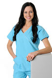Nurse in scrubs royalty free stock images